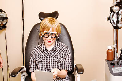 A functional vision exam is important for a struggling student.