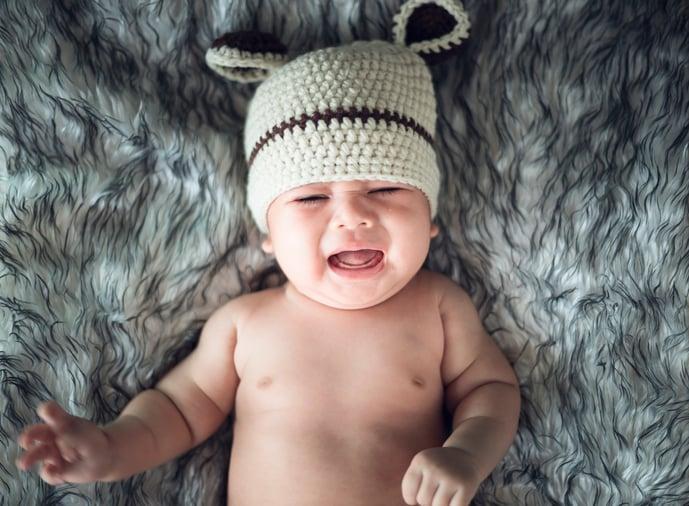 cross-eyed baby
