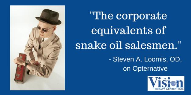 Equivalent to snake oil salesmen