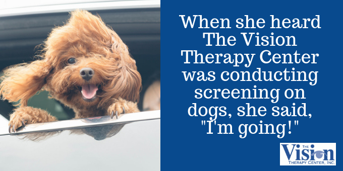 Angela was eager to visit The Vision Therapy Center.