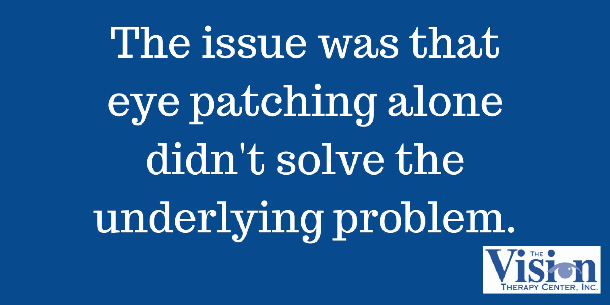Patching alone doesn't solve problem.
