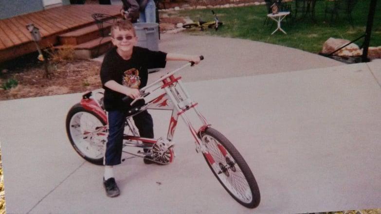 Mitchell has always loved bikes.
