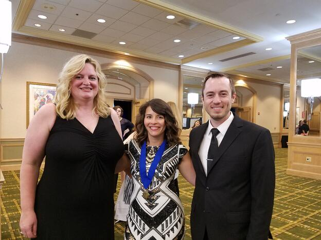 Dr. Motisi with Dr. Kellye Knueppel and Dr. Brandon Begotka at the COVD Annual meeting.