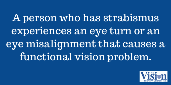 Strabismus is a functional vision problem.