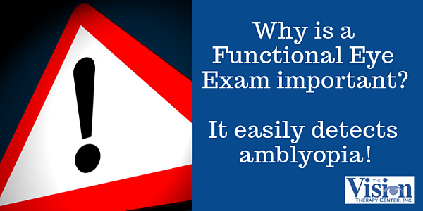 Amblyopia can be easily detected.