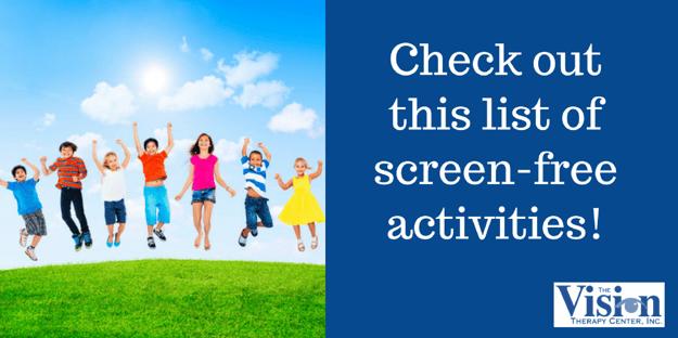 List of screen-free activities.