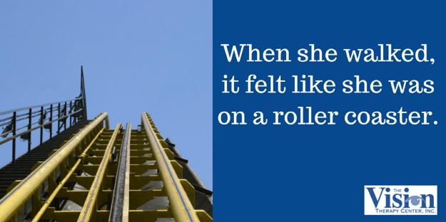 She felt like she was on a roller coaster.