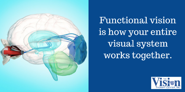 Functional vision includes the entire visual system.