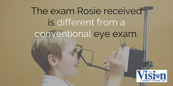 The eye exam was different.