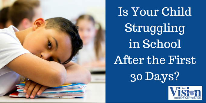 Is Your Child Struggling in School After the First 30 Days
