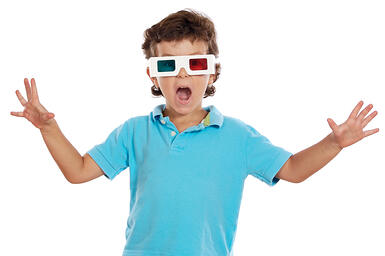 A child who gets headaches from 3D movies could have a lazy eye