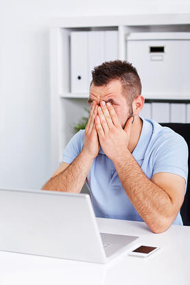 Computer eye strain can cause fatigue, headaches and sore eyes