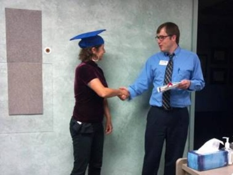 Celeste graduating from vision therapy.