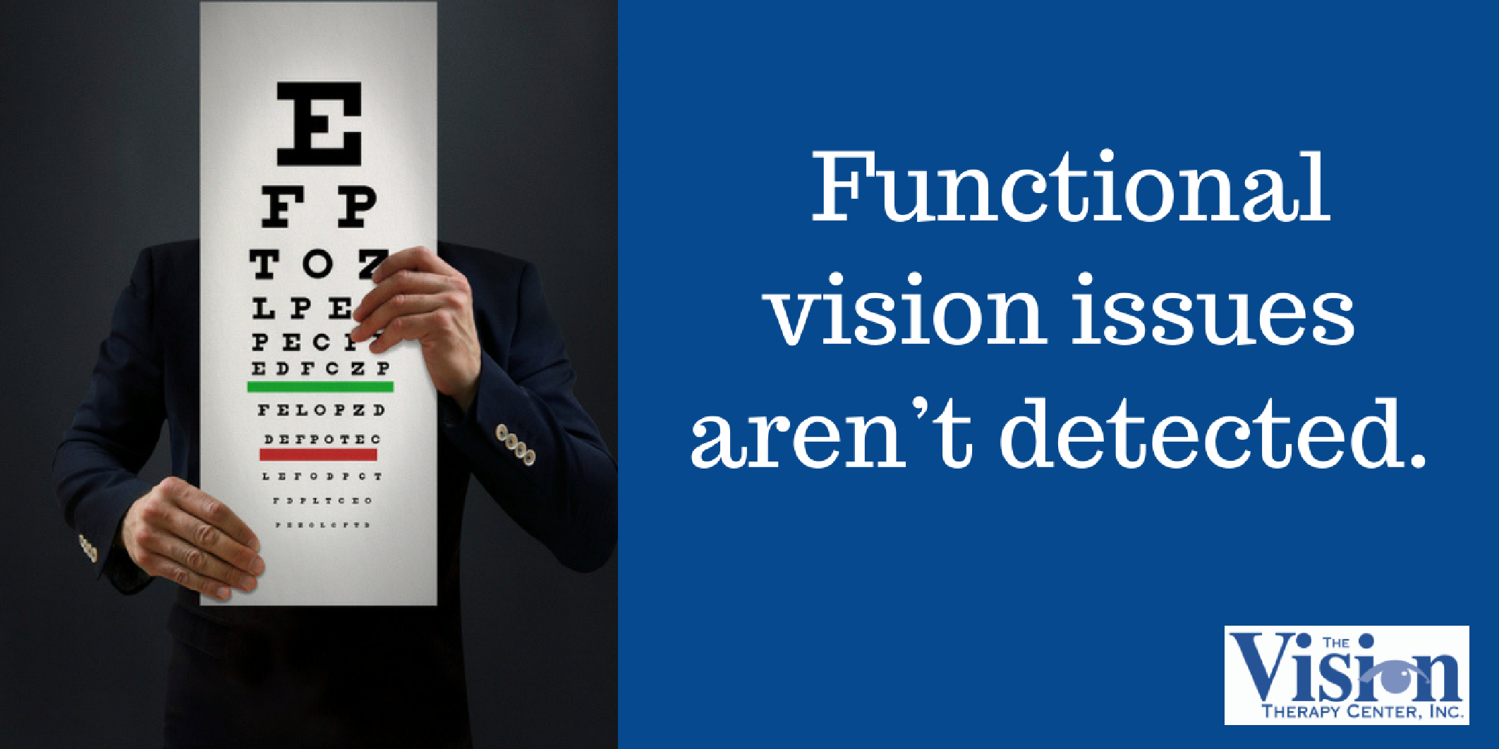 Functional vision issues aren't detected.